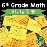 6th Grade Math End of Year Review Game