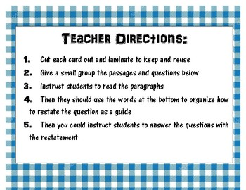 1-2 Restate the Questions Puzzle