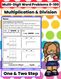 1 & 2 Step Multi-Digit Multiplication & Division Word Problems 0-100 (40)