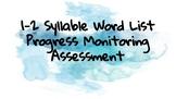 Syllable Types Progress Monitoring ****A year of bi-weekly