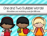 1 & 2 Syllable Words: Artic and Vocabulary for Little Ones!