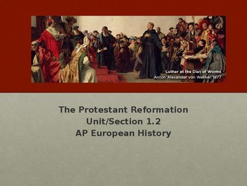 1.2 The Protestant Reformation - Presentation