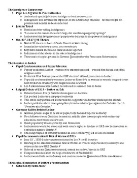 1.2 The Protestant Reformation - Lecture Notes