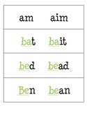 1 & 2 Vowel Word Cards with Highlighted Blends