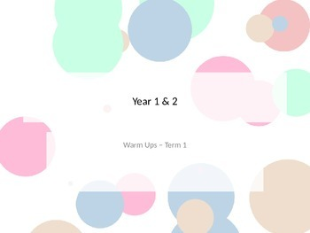 1-2 Math Warm Up Combination: Term 1