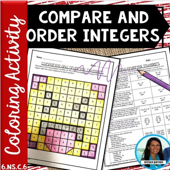 Comparing and Ordering Integers Coloring Activity 6.NS.C.7