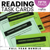 Reading Task Cards   Fifth Grade   Year Long   Editable