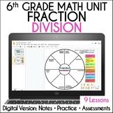 Distance Learning 6th Grade Fraction Division Unit Google Slides