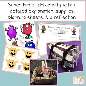 Nibbles - The Book Monster - Craft, STEM Project, Writing Printables & More!