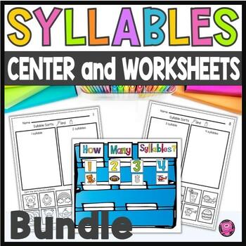Phonemic Awareness: Syllables Activities Worksheets & Centers Bundle