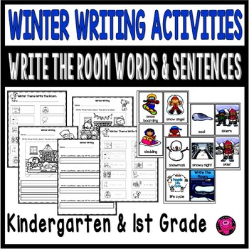 Kindergarten Winter Word Work Activities: December January February Literacy