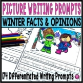 Winter Writing Prompts with Pictures Facts and Opinions Kindergarten and Grade 1