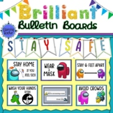 COVID 19 Among Us Stay Safe Posters Bulletin Board & Decor
