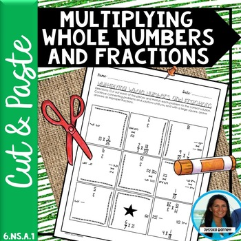 Multiplying Whole Numbers and Fractions Puzzle 6.NS.A.1