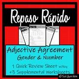 Adjective Agreement in Spanish- Repaso Rápido