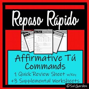 Affirmative Tú Commands - Repaso Rápido