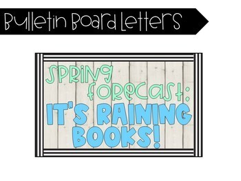 1/2 off! It's Raining Books! Spring-themed Reading Bulletin Board!