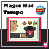 Music Distance Learning - Boom Cards - Magic Hat TEMPO Gam