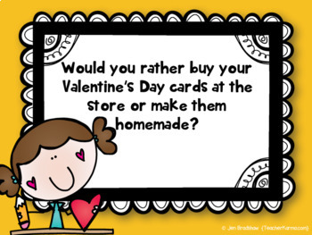 Valentine's Day ~ WOULD YOU RATHER ~ FREE Journal ~ Morning Message