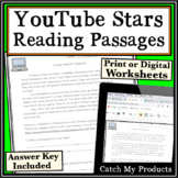 Middle School Reading Comprehension About YouTube Printabl