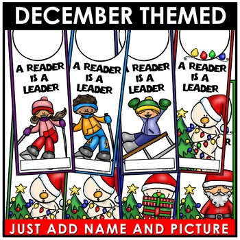 Book Marks DECEMBER Themed Personalized