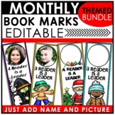 Customizable Book Marks for the YEAR   Editable Book Marks BUNDLE