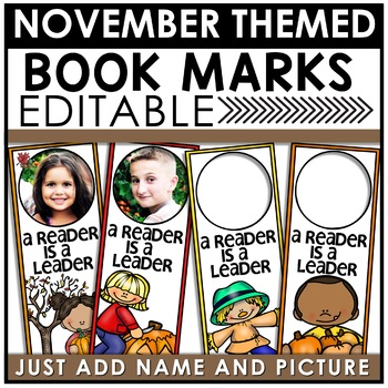 Book Marks NOVEMBER Themed Personalized