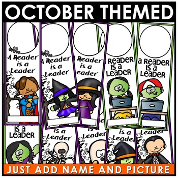 Book Marks OCTOBER Themed Personalized