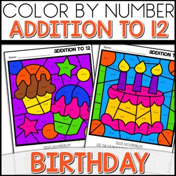 1 2 off for 24 hours color by number birthday worksheets addition to 12. Black Bedroom Furniture Sets. Home Design Ideas