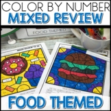 1/2 off for 24 hours ❤️ Color by Number FOOD Worksheets MIXED UP TO 20