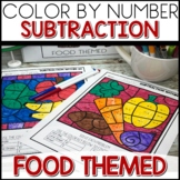 1/2 off for 24 hours ❤️ Color by Number FOOD Worksheets Sub within 20