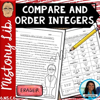 Comparing and Ordering Integers Mistory Lib 6.NS.C.7