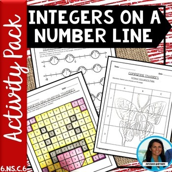 Integers on a Number Line, Compare and Order Activity Pack