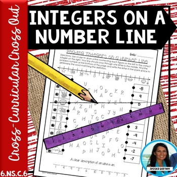 Integers on a Number Line Cross Curricular Cross Out