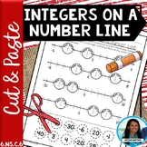 Integers on a Number Line Cut and Paste Activity 6.NS.C.6