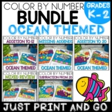 Color by Number OCEAN THEMED BUNDLE