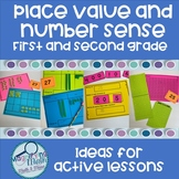 Number Sense Place Value Active Activities for grades 1 and 2