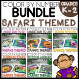 Color by Number SAFARI THEMED BUNDLE