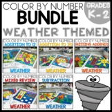 WEATHER Color by Number BUNDLE