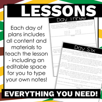 4th Grade Math Lesson Plans Multiplication Guided Release of Responsibility