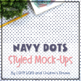 Pink, Navy, and Mint Styled Image Mock-ups