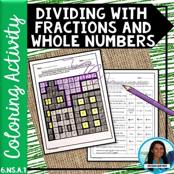Dividing with Fractions and Whole Numbers Coloring Page 6.NS.A.1