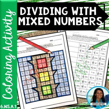 Dividing with Mixed Numbers Coloring Activity 6.NS.A.1