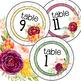 Farmhouse Classroom Decor Table Number Signs