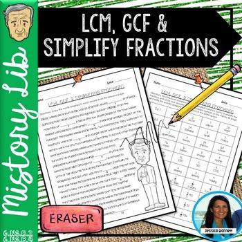 GCF, LCM, and Simplifying Fractions Mistory Lib 6.NS.B.2 & 6.NS.B.4