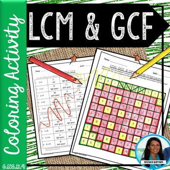 LCM and GCF Coloring Page 6.NS.B.4