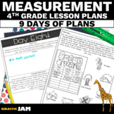 4th Grade Measurement Word Problem Lesson Plans with Answer Keys