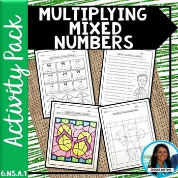 Multiplying Mixed Numbers Activity Bundle 6.NS.A.1