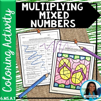 Multiplying Mixed Numbers Coloring Activity 6.NS.A.1