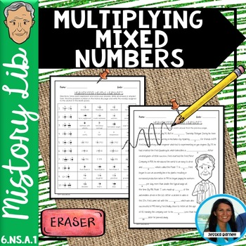 Multiplying Mixed Numbers Mistory Lib Activity 6.NS.A.1